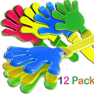 Plastic Hand Clappers 7.5 inch Noise Maker Toy Novelty Wholesale Bulk Lot (Pack of 12) - iGifts (Novelty Wholesale Inc)