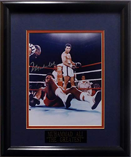 - Muhammad Ali Autographed Framed 8x10 Photo Over Foreman Beckett BAS #A20256