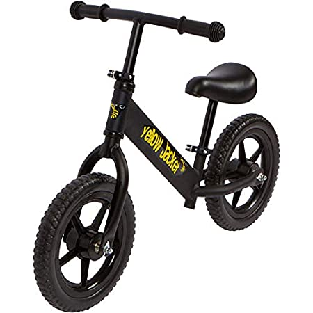 Yellow Jacket Kids Balance Bike - Glider Push Bike Kids, Toddlers Ages 2, 3, 4 & 5 Years Old Boys Girls, No Pedal Control Walking Bicycle - Ultra Lightweight