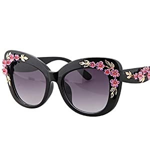 Baroque Sunglasses Vintage Engraving Flower Sunglasses - Gold Leaf And Flower