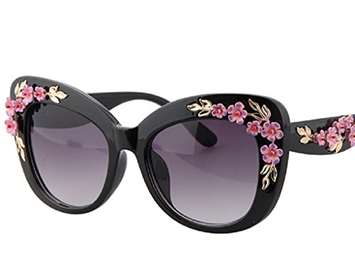Baroque Sunglasses Vintage Engraving Flower Sunglasses - Gold Leaf And - Eyewear Gallery