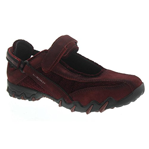 Mephisto WoMen NIRO Competition Running Shoes Red (Dk Winter Red/Dk Red C.suede 01/H.soft 67)