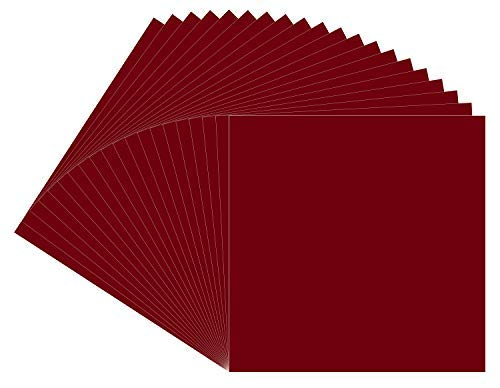 "20 Burgundy Oracal 651 Vinyl Sheets,12x12"" Burgundy Permanent Adhesive Backed Vinyl Sheets, Craft Vinyl for Indoor/Outdoor Lettering, Marking, Decorating,Car Decals,Window Graphics, for Craft Cutters"