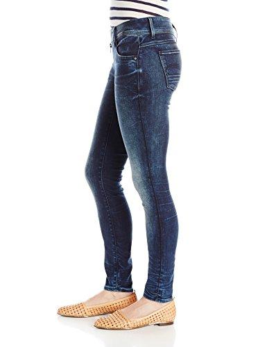 Superstretch dark Blu 6549 Aged star Lynn G Cerniera Skinny Slander Donna Raw Jeans Mid 0UvRwPq