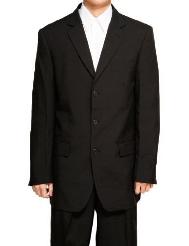 New Men's 3 Button Single Breasted Black Dress Suit