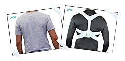 BACK Shoulder Brace (Small-Medium, Chest Approx 29-36 inches) Improves posture, prevents slouching for back pain relief. Bac< products only sold through Back Pain Help in US.
