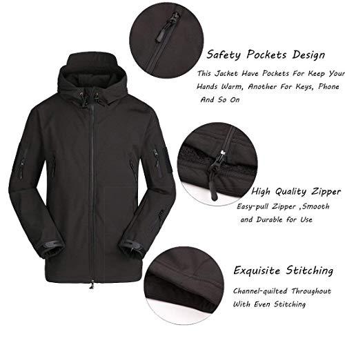 Abbigliamento Abbigliamento Impermeabile Tattico Cp Velluto Plus da Softshell Giacche Giacche Emmay con Antivento Camouflage Uomo Cappuccio Essenziale Thermal Abbigliamento PZgCnBxqw