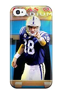 New Style 5847434K96974147 Premium Durable Peyton Manning Fashion Tpu Iphone 4/4s Protective Case Cover
