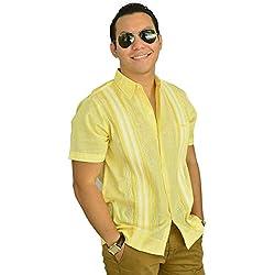 Camisa Guayabera Yucateca Casual Lino Manga Corta Original_cfkkkplum11