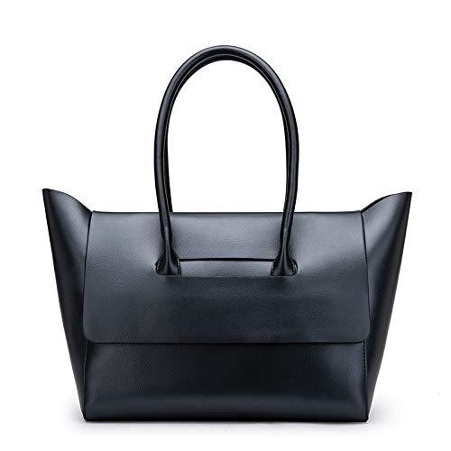 JJZHY Nouveaux Sacs À Main en Cuir De Mode Sacs À Main Grande Capacité Cadeaux Copines noir