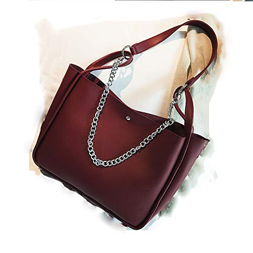 Simple Style 2018 Rouge Child American Bag Shoulder Diagonal Vin Color Solid Hlh Fashion And European Chain TRxYY1qH