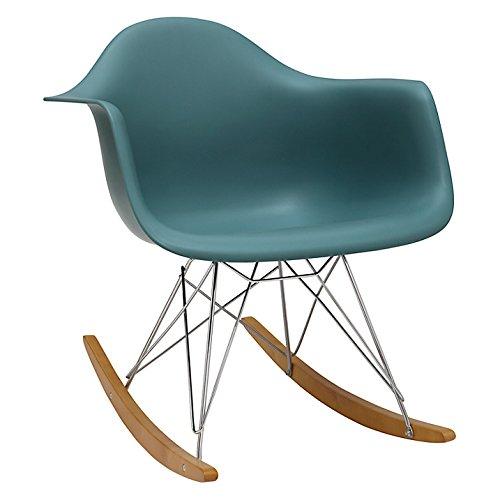 Silla Replica Eames. Mecedora moderna. color Aqua