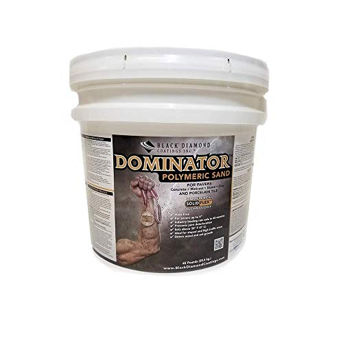 45 Pound, Charcoal Joint Stabilizing for Pavers, DOMINATOR Polymeric Sand with Revolutionary Solid Flex