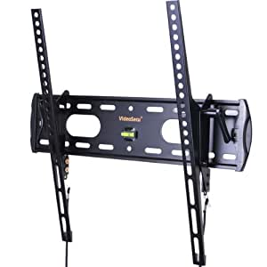 "VideoSecu TV Wall Mount Tilt Low Profile Ultra Slim Television Mount Bracket for Most 26""- 47"" LED LCD Plasma TV, Some up to 55"" TV with VESA 200x100 to 400x400 1FE"