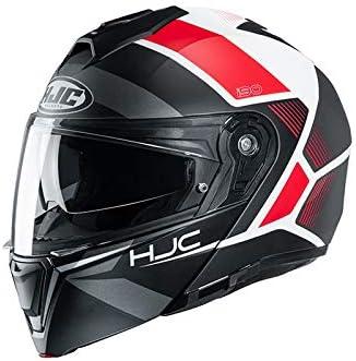 Azul//Rojo Casco de moto HJC i90 HOLLEN MC21 XS