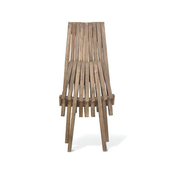 GloDea X45 Natural Lounge Chair, Expresso Brown - Folds for easy portability and space saving Handmade with a modern design and your comfort in mind Crafted from eco safe wood and packed in recyclable boxes - patio-furniture, patio-chairs, patio - 41YAnLNjncL. SS570  -