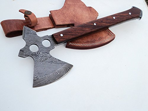 DKC-855 Geronimo Axe Damascus Steel DKC Knives (TM) 18 oz 13.5