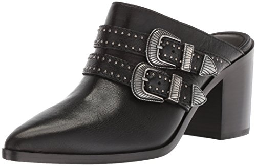 FRYE Women's Flynn Belted Mule, Black, 6 M US ()
