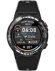 PRIXTON SW37 - Willekeurig SmartWatch met GPS stappenteller Fitnesslogboek Sporthorloge Dames en Horloge Mannen met slagaderlijke modus, SIM-kaart maken en beantwoorden van gesprekken met Siri Voice Assistant