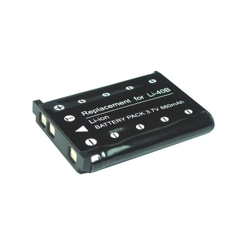 Compatible Battery LI-40B for use with Casio Digital Cameras by PREMIUM POWER