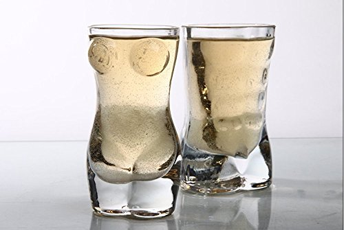 Cedmon Funny Shot Glass Set  Man and Women Shaped Custom Des