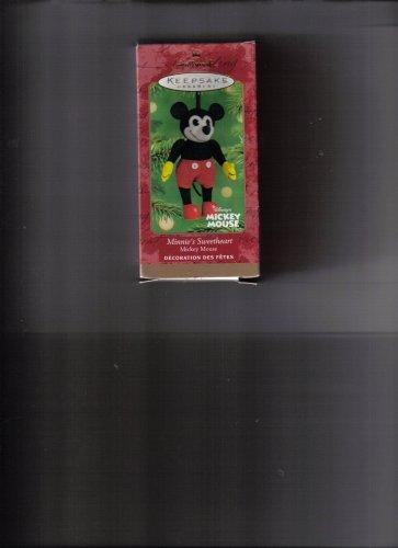 Minnies Sweetheart Mickey Mouse 2001 Hallmark Keepsake Ornament Qxd4195