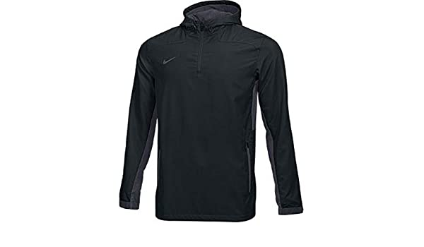 1d44dbc96c Amazon.com  Nike Stock Woven Quarter-Zip Jacket  TM BLACK  (S)  Sports    Outdoors