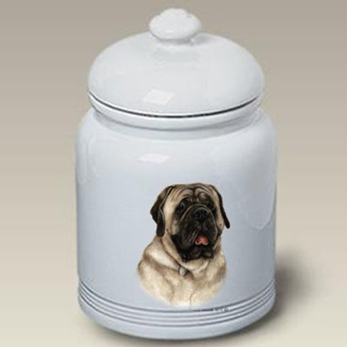 Mastiff Silver Dog Treat Jar by Tamara Burnett