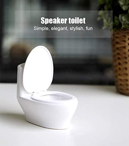 Aoile Mini Funny Toilet Speakers Computer Small Speakers Mini Stereo Wired Speaker Music Sound Box