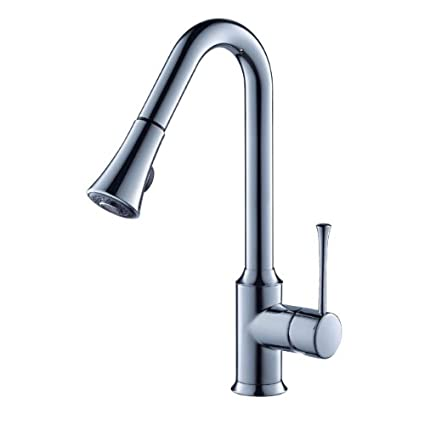 KRAUS KPF-1650CH Single Lever Pull Out Kitchen Faucet Chrome