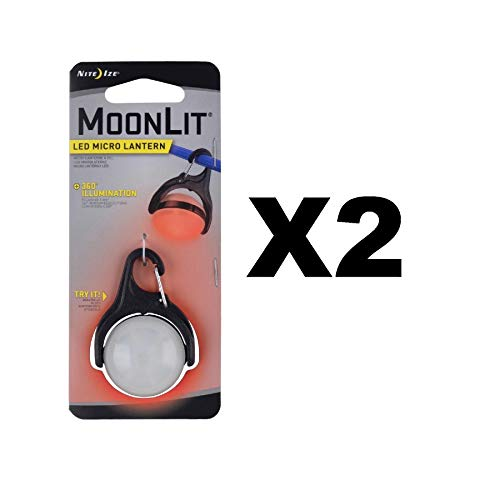 Nite Ize MoonLit LED Micro Lantern Red w/Carabiner Clip Tent Light (2-Pack)