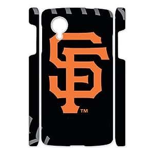 Fashion Popular Black Orange San Francisco Giants Baseball Team Sport Google Nexus 5 3D Case Shell Cover (Laser Technology)
