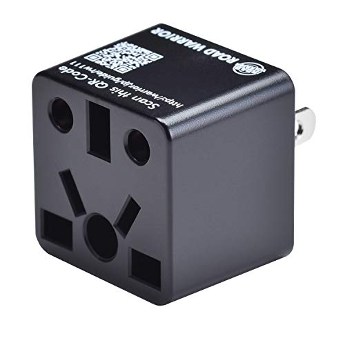 ROAD WARRIOR US Travel Plug Adapter EU/UK/CN/AU/IN to USA (Type A) - RW111BK-US ()