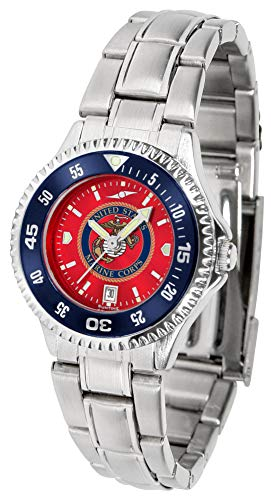 Anochrome Ladies Steel Watch - US Marines - Competitor Ladies' Steel AnoChrome - Color Bezel