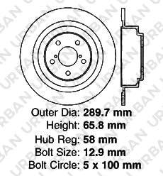 -Combo Brake Kit 5lug 8 Ceramic Pads F+R Full Kit Legacy Outback 4 OEM Replacement Extra-Life Heavy Duty Brake Rotors