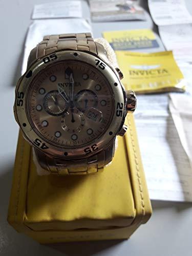 Invicta 74 Mens Pro Diver Quartz Chronograph Gold Dial Watch (Watch Invicta 0074)