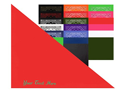 Personalized Dog and Cat Bandana| Personalized Bandanas for Pets - Solid Red CE4200DOG