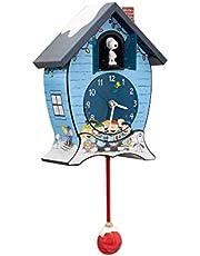 Peanuts Gang Snoopy Linus Lucy ICY Blue 17 x 9 Acrylic Holiday Cuckoo Clock
