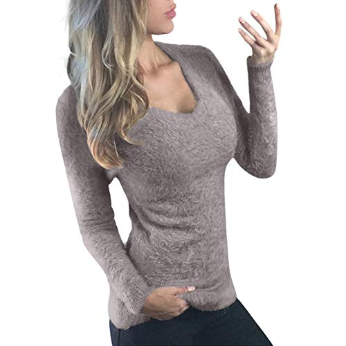 Keliay Bargain Women Long Sleeve Sweater Shirt Casual Outwear Tops and Blouse Slim Fit Sweaters