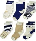 Rene Rofe Baby Baby Newborn and Infant 6 Pack Socks, Fox, 0-9 Months