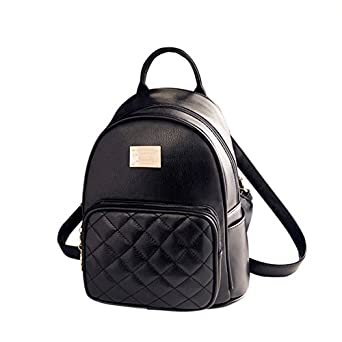Amazon.com: Gesver Ladies PU Leather Stylish Casual Small Backpack ...