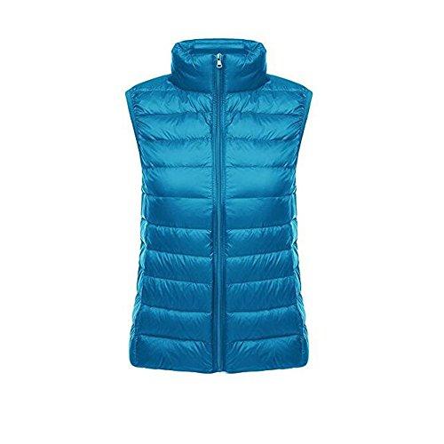 Chaquetas Down Coat Windproof Azul Ake Puffer Mujer de Pluma Ultra Light Chaleco zSwqY87
