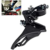 FASTPED ® MTB Mountain/Road Bike Bottom/Top Pull Front Derailleur 31.8mm Clamp Black