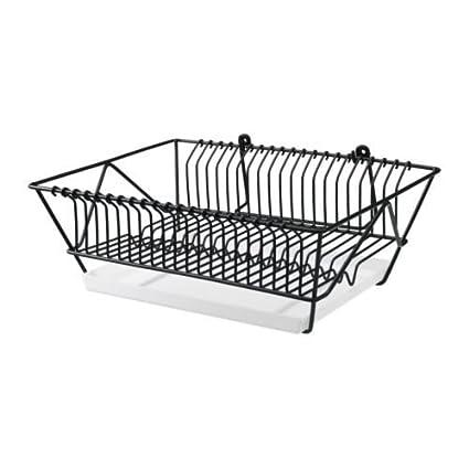 IKEA FINTORP - Plato escurridor, negro, galvanizado - 37.5x29x13.5 cm