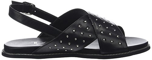 The Divine Factory Women's Adriana Sling Back Sandals Black (Noir 001) IeZhPVa