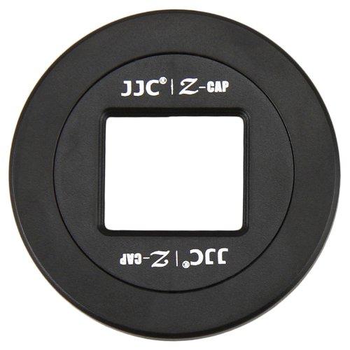 JJC self-retaining自動レンズキャップfor Panasonic Lumix G X Vario PZ 14 – 42 mmレンズh-ps14042 + eFontoクリーニングクロスギフト   B00UWDR1KM