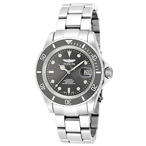 Invicta Men's 'Pro Diver' Swiss Automatic Stainless Steel Diving Watch, Color:Silver-Toned (Model: 18504) (Diver Pro Swiss)