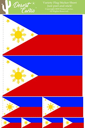 Desert Cactus Philippines Country Flag Sticker Decal Variety