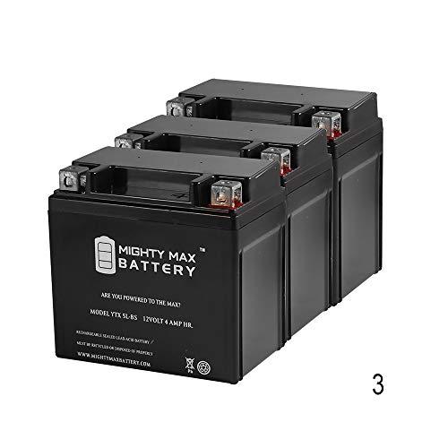 ytx5l-bs交換用forバッテリーe-tonすべてのモデル50 cc 04- ' 05 – 3パック – Mighty Maxバッテリーブランド製品