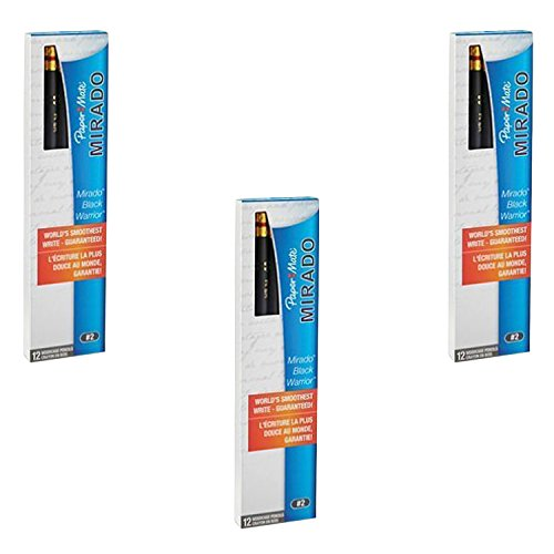 Paper Mate (2254) Mirado Black Warrior Lead Pencils, (Medium) Soft (12 Count) (3 Pack of 12)